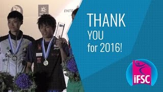 Thank you for 2016 - IFSC by International Federation of Sport Climbing