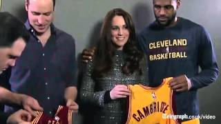 Kate's Reaction To LeBron James' Royal Protocol Error