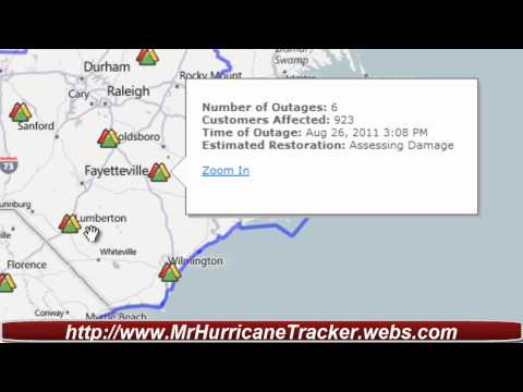 Hurricane Irene Major Power Outages Florence and other locations