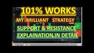 Support and Resistance Explained||Iq Option Live Trade||Best Strategy