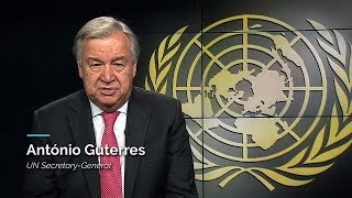Video message by H.E. Mr. António Guterres, United Nations Secretary-General, on Youth, on World Humanitarian Day 2017. Today, millions of people around the world are engulfed in conflicts that are not of their own making. Ordinary women, girls, men and boys are caught in crossfire or directly targeted by violence, forcing millions to flee their homes for an uncertain future. Compounding the suffering and the injustice, the brave health and aid workers who set out to help are often themselves targeted in deplorable attacks that hamper their ability to save lives. This year, the United Nations and our partners mark World Humanitarian Day by calling for the protection of civilians caught up in conflict and the aid and health workers who support them. We want the world to know: civilians, including aid workers and health workers, are Not a Target. Please stand in solidarity with civilians by lending your voice to our campaign. Everyone can make a difference in ending the violence and upholding the values we share and hold dear. Thank you. #WorldHumanitarianDay