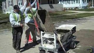Concrete raising in Beloit, Wis. Video 3