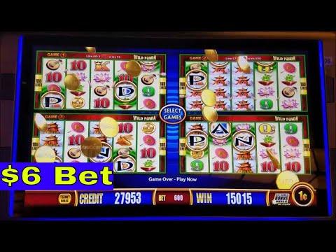 Wild Panda Slot Machine Bonuses and  Big Win  Lines Hit