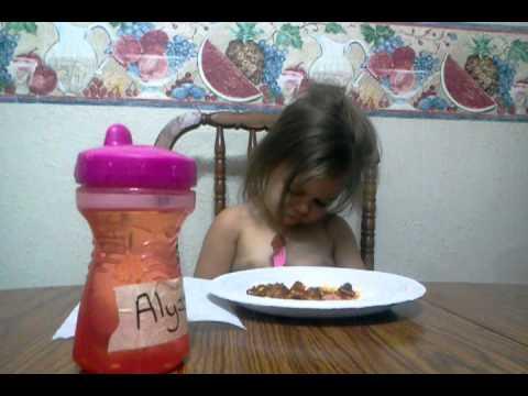 Alyssa loves her hotdogs