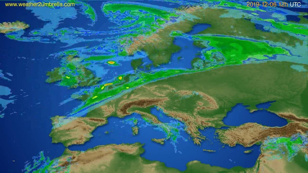 Radar forecast Europe // modelrun: 00h UTC 2019-12-06