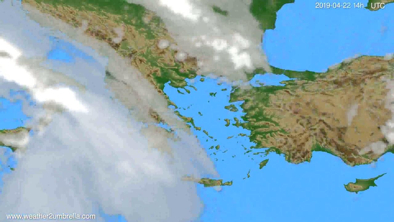 Cloud forecast Greece // modelrun: 00h UTC 2019-04-20