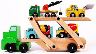 Car Transporter Learn Colors with Toy Vehicles for Children