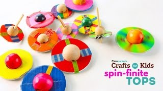 "An easy DIY toy that always delights kids and adults is the simple spinning top. This ""spin-finite"" version is made from two easy to find materials that when combined, spin for a very, very long time!For the full craft, click here: http://www.pbs.org/parents/crafts-for-kids/easy-diy-toy-spin-finite-tops/Subscribe to PBS Parents on YouTube for new videos every Wednesday: http://www.youtube.com/subscription_center?add_user=pbsparentspicksCrafts for Kids is a weekly series that encourages parents and kids to spend time together making fun and simple projects. Brought to you by PBS Parents and Ana Dziengel of Babble Dabble Do. Music provided by APM."
