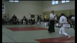 Pokaz na X Mikołajkowym Turnieju Judo w Będzinie