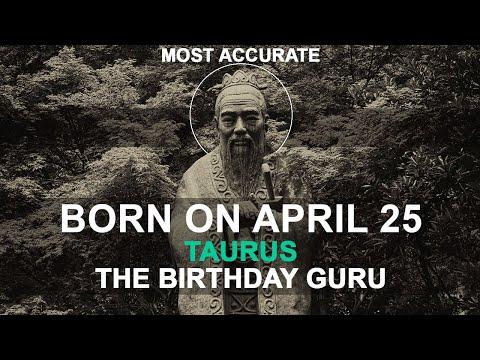 Born on April 25 | Birthday | #aboutyourbirthday | Sample | #birthdaygurutribemember