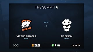 Virtus.Pro G2A vs AD Finem, Game 1, The Summit 6 Qualifiers, Europe