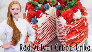 Red Velvet Crepe Cake by Tatyana's Everyday Food