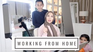 WORKING FROM HOME WITH KIDS...   Amena's Family Vlog 21