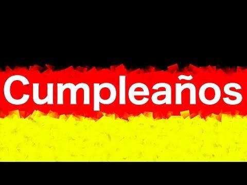 Frases de vida - Frases en alemán 4 -  Feliz Cumpleaños en alemán