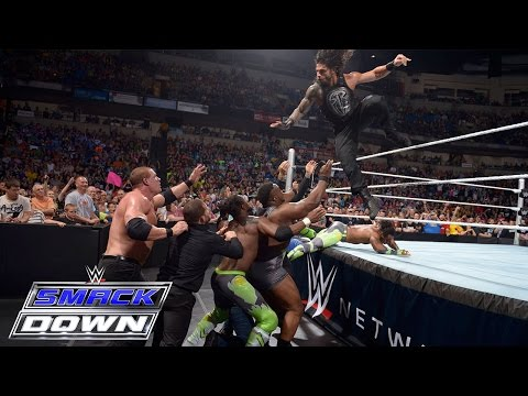 Dean Ambrose & Roman Reigns vs. Kane & Seth Rollins: SmackDown, May 28, 2015