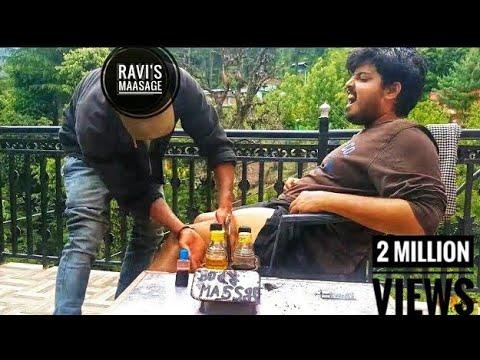 Best Indian Head and Thigh Massage-Head, scalp & Deep tissue massage by Ravi | Kasol |ASMR