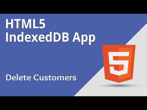 HTML5 Programming Tutorial | Learn HTML5 IndexedDB App - Delete Customers