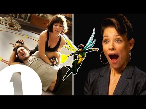 """""""I did trap Paul Rudd in my crotch!"""" Evangeline Lilly on The Wasp's kick-ass fighting style."""