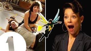 "Video ""I did trap Paul Rudd in my crotch!"" Evangeline Lilly on The Wasp's kick-ass fighting style. MP3, 3GP, MP4, WEBM, AVI, FLV September 2018"