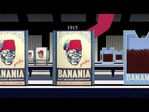 Plaque « banania tirailleur N&B »30*40 cm