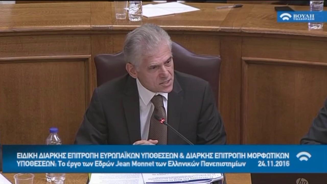 Ομιλία Επικεφαλής Ευρωπαϊκής Επιτροπής στην Ελλάδα κ. Π.Καρβούνη στην Επιτροπή Ευρωπαϊκών Υποθέσεων