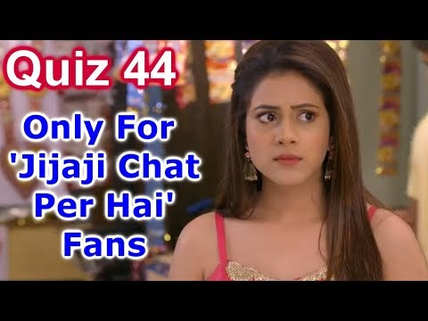 JCPH Quiz #44 - Some Easy Questions For 'Jijaji Chhat Par Hai' Fans | Jcph Quiz | Hiba Nawab