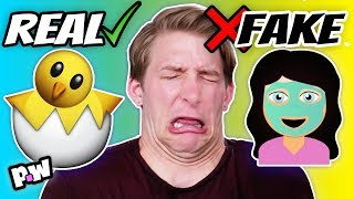 Real vs Fake Emojis | Can you guess which is real?