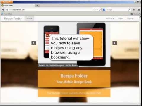 Video of Recipe Folder
