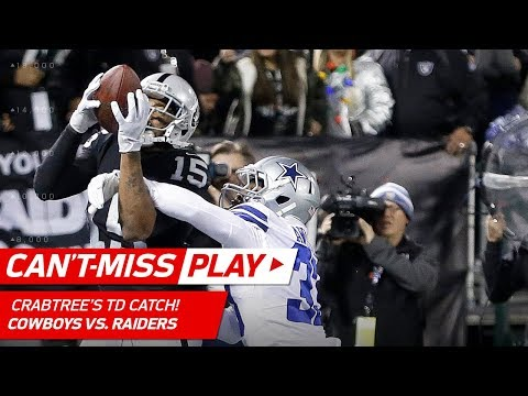 Video: Huge Plays by Carr & Lynch Set Up Crabtree's TD Catch! | Can't-Miss Play | NFL Wk 15