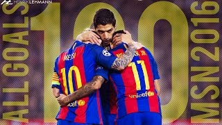 All 120 goals by the MSN trio in the calendar year of 2016 for FC Barcelona. Enjoy! Click