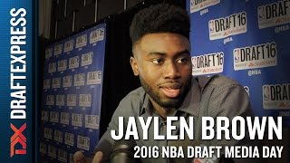 Jaylen Brown NBA Draft Media Day Interview
