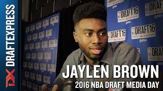 Jaylen Brown NBA Draft Media Day Interview
