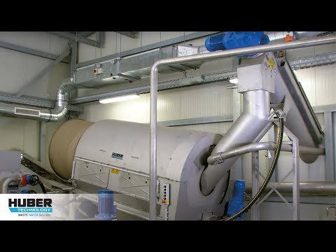 Video: HUBER Grit Treatment System RoSF 5 - grit recycling at WWTP Schwarzenberg