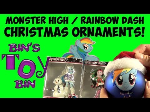 Bin - Bin shows off some new ornaments that she can't wait to hang on the 2013 Christmas tree! These include TWO Rainbow Dash My Little Pony ornaments (thanks to o...