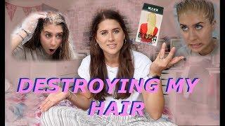 Video Bleaching my really dark hair **GONE WRONG!!** | Lucy Lynch MP3, 3GP, MP4, WEBM, AVI, FLV Agustus 2019