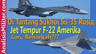 Video Dikejar Jet Tempur Su-35 Rusia, F-22 Amerika Lari, Benarkah? MP3, 3GP, MP4, WEBM, AVI, FLV Januari 2019