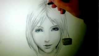 """Realistic' Manga face - Time lapse"