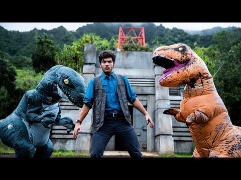 Jurassic World Meets Parkour in Real Life