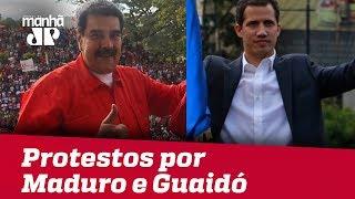 Protestos por Maduro e Guaidó são convocados para o sábado na Venezuela