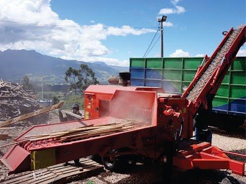 Picador Florestal RAPTOR 700 - Picando Pallets