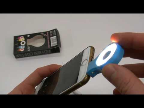 Presentazione mini faretto luce LED esterna Flash Selfie universale smartphone