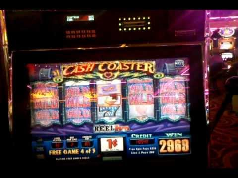 Cash Coaster slot machine bonus, Flamingo Las Vegas, Nov 2011