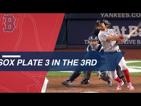 Video: Red Sox plate three in the 3rd inning of Game 4