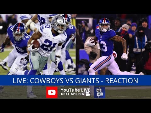 Cowboys vs. Giants Live Stream Reaction & Updates On Highlights From Week 2