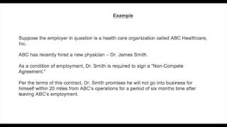 Fast Facts About Non-Compete Agreements