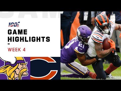 Vikings vs. Bears Week 4 Highlights   NFL 2019