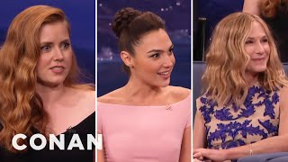 Video Amy Adams' Girl Crush On Holly Hunter & Gal Gadot  - CONAN on TBS MP3, 3GP, MP4, WEBM, AVI, FLV Juni 2018