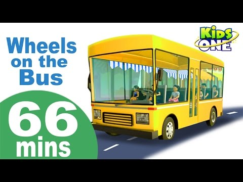 Wheels On The Bus Go Round and Round | Phonics Song & More Popular Nursery Rhymes Collection for Kid