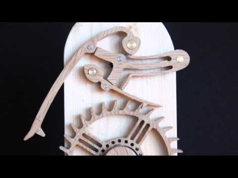 Brian Law - Prototype of my new Grasshopper escapement built to test the design for building into future wooden clocks. The design is also available as drawings and CNC ...