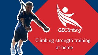 Strength training for climbing home workouts with GB Climbing Coach Liam Briddon by teamBMC